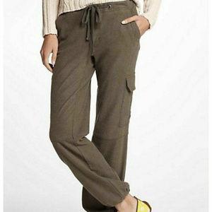 Anthropologie Olive Green Cargo Drawstring Pants